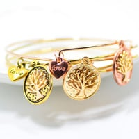 Vintage The Tree Of Life Pendant Bracelet Best Friend Jewelry - Anatomy quote - BFF Jewelry With Christmas Gift Box [9664459855]
