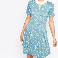 French Connection Floral Print Jersey Dress at asos.com