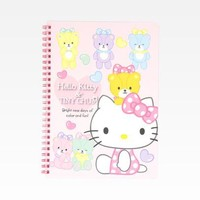 Hello Kitty Spiral Notebook: Heart Bubbles