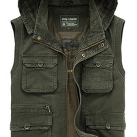 JIAX Men's Travel Photography Waistcoat Outdoor Multi-Pocket Concealed carry Vest