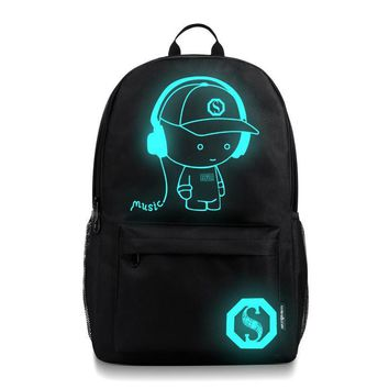 2017 Luminous Brand Women Backpack Student College School Bags Waterproof Backpack Men Rucksack Mochila Laptop Bag Backpack