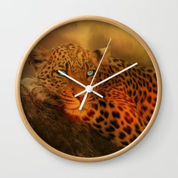 Waiting For The Night Wall Clock by Theresa Campbell D'August Art