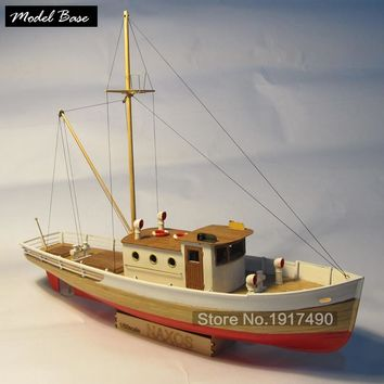 Wooden Ship Models Kits Diy Train Hobby Model-Wood-Boats 3d Laser Cut Scale 1/50 Nexus (WITH) A Wooden Fishing Boat Static Kit