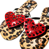 Iron Fist Lovecat Sandals Leopard