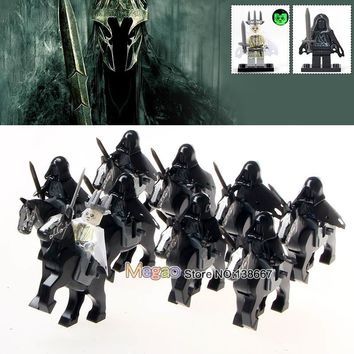 18pcs/lot WM1016 Ring Witch-king of Angmar Wraith Lord of the Rings Attack on Wethertop Building Blocks Children Toys