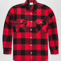 Rothco Heavyweight Mens Flannel Shirt Red/Black  In Sizes