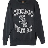 Vintage Retro 80s Chicago White Sox Gray Grey Sweatshirt Crewneck Sz Large 1980s