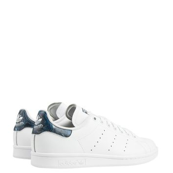 Adidas Women's Stan Smiths in White Indigo