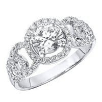 "1.40 CT.T.W. ""Circles"" Diamond Engagement Ring in 14K White Gold (H-I, I1) - Sam's Club"