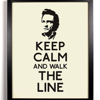 Keep Calm And Walk The Line (Johnny Cash) 8 x 10 Print Buy 2 Get 1 FREE Keep Calm Art Keep Calm Poster Keep Calm Print Johnny Cash