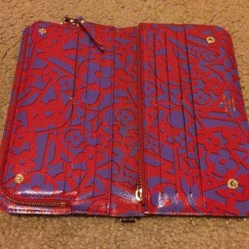 PEAPONDB authentic louis vuittons wallet monogram insolite Red inside. Limited edition.
