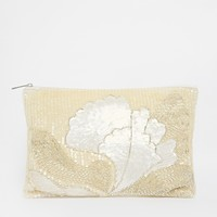ASOS Premium Floral Embellished Clutch Bag