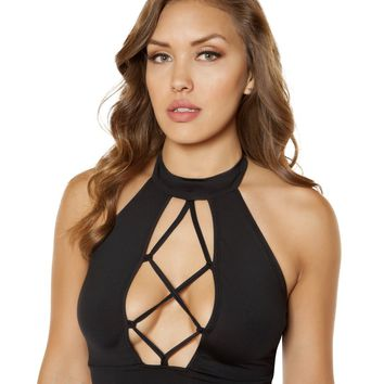 Strappy Lace-up Crop Top
