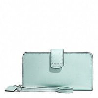 PHONE WALLET IN SAFFIANO PATENT LEATHER