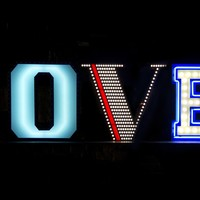 Fluorescent Light letter LOVE Graphic Lamp Collection by Delightfull