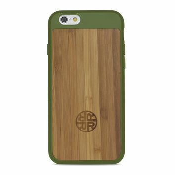 Extra Protective Bamboo Forest iPhone 7 / 8 Case with Silicon Shell for Extra Protection & Durability - Eco-friendly Bamboo Wood Design by Reveal Shop (Bamboo/Green)
