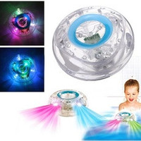 Bathroom LED Light Toys Kids Funny Children Bathing Toys Waterproof in Tub (Color: White) [7655028678]