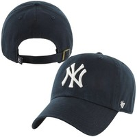 '47 Brand New York Yankees Navy Blue Basic Logo Cleanup Adjustable Hat