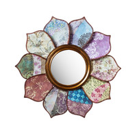 Boho Wall Flower Mirror
