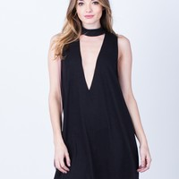 Plunging Choker Dress