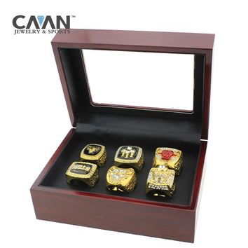 Drop shipping 6 pcs/set 1991 1992 1993 1996 1997 1998 Bulls Basketball replica Championship Ring Set for Men Gift sports jewelry
