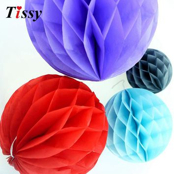 "1PC 10""(25cm)  Best Price Of Tissue Paper Honeycomb Ball Pastel Lantern Bags 17 Colors Decorations Supplies For Wedding Party"