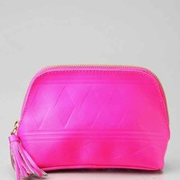 Embossed Leather Makeup Bag-