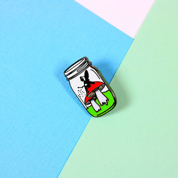 Fairy in a Bottle Enamel Pin with clutch back // EP120