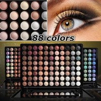 Pro 88 Colors Matte Eyeshadow Palette Fashion Eye Shadow Set In Box with Mirror [8833417676]