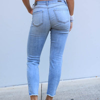 Kut from the Kloth Reese Ankle Straight Leg Jeans - Celebratory