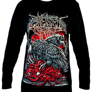 Chelsea Grin vulture Long Sleeve T Shirt Size M L - Rock Band Music Metal