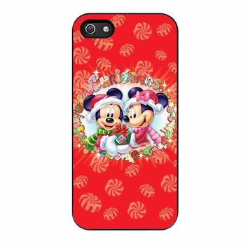 Mickey And Minnie Mouse Disney Christmas iPhone 5s Case