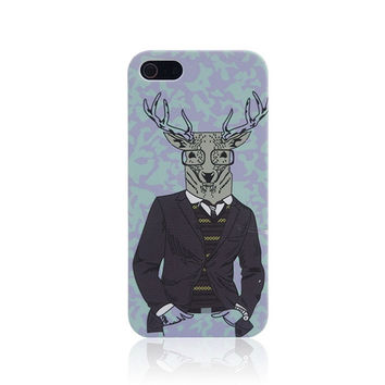 Fashion Mr.Deer Parahuman Handmade iPhone Cases for 5S 6 6S Plus
