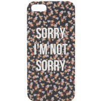 With Love From CA Sorry Not Sorry iPhone 5/5S Case - Womens Scarves - Multi - NOSZ