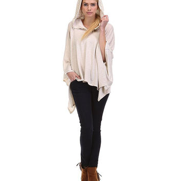 Sun and Moon Josie French Terry Hoodie Top