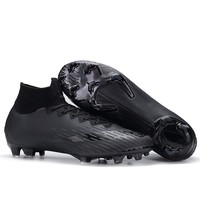 FANCIHAWAY Soccer Shoes SG FG Blackout Superfly Football Shoes Children Original Outdoor Sport Training Sock Cleats