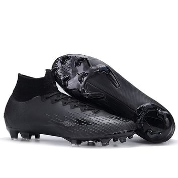 c1acaa8d9683 FANCIHAWAY Soccer Shoes SG FG Blackout Superfly Football Shoes C