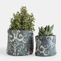 Roussillion Azure Flower Pot Covers