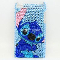 Stitch Diamond Bling Hard Case Cover Skin for Ipod Touch 4 4th + Protective Film Screen