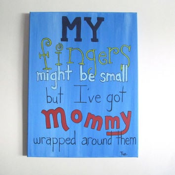 Baby Boy Nursery - Boys Nursery Decor - Baby Boy Nursery Art - Baby Wall Art - 12x16 Nursery Canvas Art