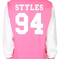 Harry Styles Date Of Birth One Direction Varsity Jacket