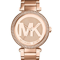 Michael Kors Women's Parker Rose Gold-Tone Stainless Steel Bracelet Watch 39mm MK5865 | macys.com