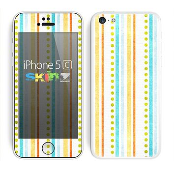 The Vintage Colored Stripes Skin for the Apple iPhone 5c