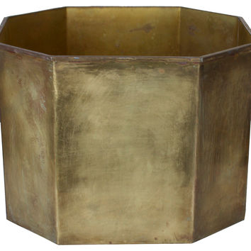 Large Brass Planter w/ Handles