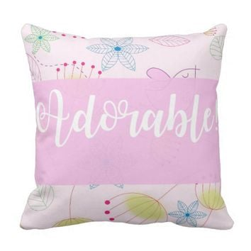 Pink Adorable Baby Decor Pillow