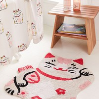 Lucky Cat Bath Mat | Urban Outfitters