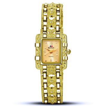 Ms bracelet watches - square watches Golden(golden face)