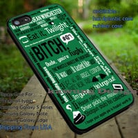 Supernatural Dean Winchester Quote Collage Art iPhone 6s 6 6s+ 5c 5s Cases Samsung Galaxy s5 s6 Edge+ NOTE 5 4 3 #movie #supernatural #superwholock #sherlock #doctorWho dt