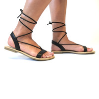Sand Trek Sandals In Black