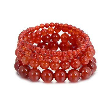 Fashion Red Coral Beads Bracelets Bohemian Natural Stone Prayer Beads Buddha Bracelet for Women and Mens Pulseras Masculina